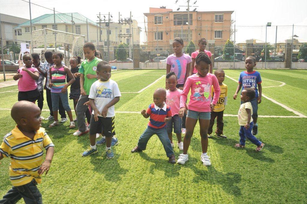 The children dancing